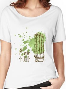 hand drawn vintage illustration of asparagus Women's Relaxed Fit T-Shirt