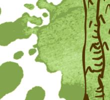 hand drawn vintage illustration of asparagus Sticker