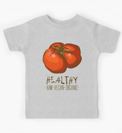 hand drawn vintage illustration of tomato Kids Tee