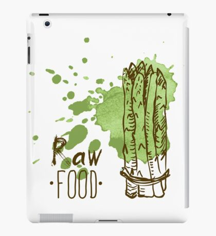 hand drawn vintage illustration of asparagus iPad Case/Skin