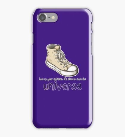 lace up your trainers iPhone Case/Skin