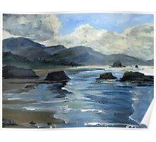Morning Mists Oregon Coast Poster