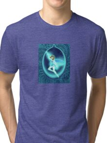 Fairy in the drop - Indigo Tri-blend T-Shirt