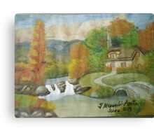 Swiss cottages Canvas Print