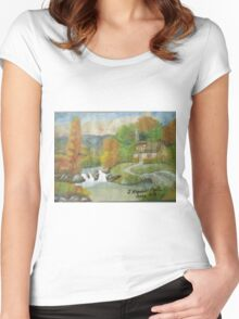 Swiss cottages Women's Fitted Scoop T-Shirt