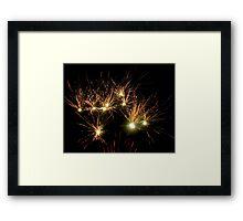 Sparklers Framed Print