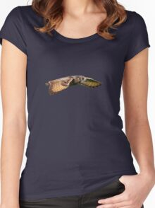 Rock Eagle Owl Women's Fitted Scoop T-Shirt