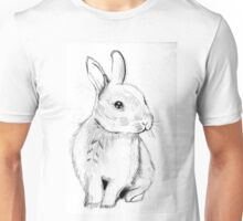 Bluebell the Fluffy White Bunny Unisex T-Shirt