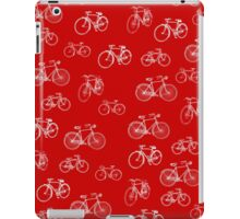 Retro Collection of Bicycles on red iPad Case/Skin