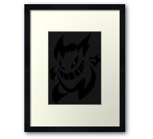 pokemon gengar haunter gastly anime shirt Framed Print