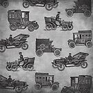 Collection of Vintage Cars by Tee Brain Creative