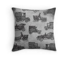 Collection of Vintage Cars Throw Pillow