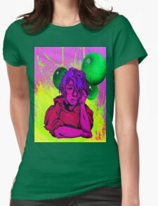 Bubble World Womens Fitted T-Shirt