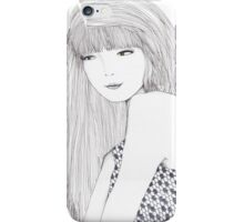 Haute Couture Fashion Illustration Portrait iPhone Case/Skin