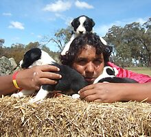 Tyrone and pups by BackTrack