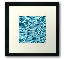 Crystal cylinders in water Framed Print