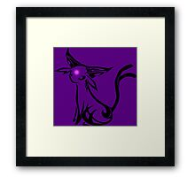 pokemon espeon eevee anime shirt Framed Print