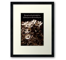 By All And by One Framed Print