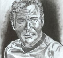 William Shatner as Captain James Kirk by WienArtist