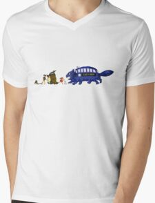 Doctor Totoro Mens V-Neck T-Shirt