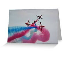 Red Arrow Split Greeting Card