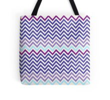 Blue and Purple Tone Chevron pattern Tote Bag
