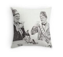 'A toast to good times' Throw Pillow