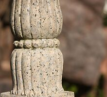 Carved Bridge Post in a Chinese Scholars' Garden by ElyseFradkin