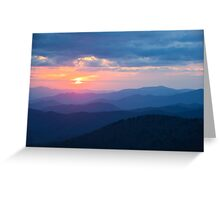 Sunset in the Great Smoky Mountains Greeting Card