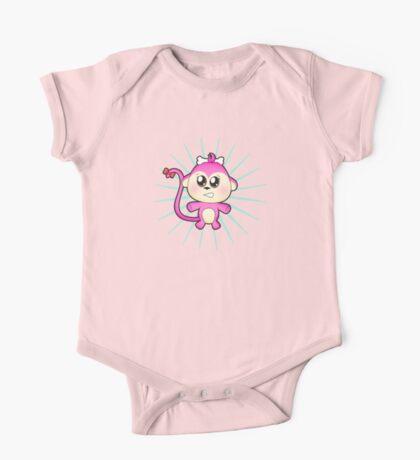 Cute baby zoo animal monkey up to mischief One Piece - Short Sleeve