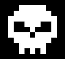 Pirate Pixel Skull  by Tee Brain Creative