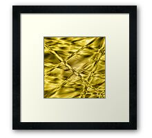 Golden-mustard cylinders Framed Print