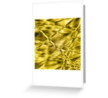 Golden-mustard cylinders Greeting Card
