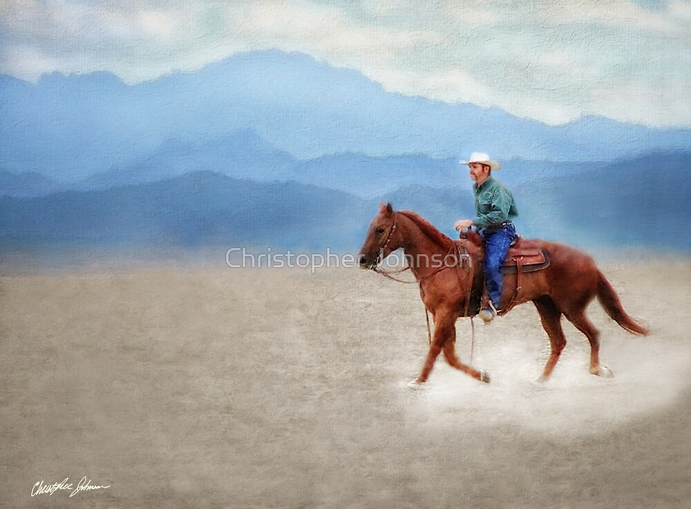 Riding in the Desert by Christopher Johnson