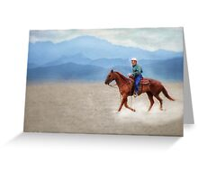 Riding in the Desert Greeting Card