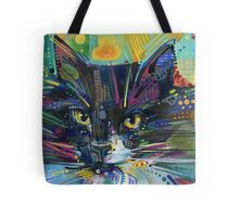 Black and white fluffy cat Tote Bag