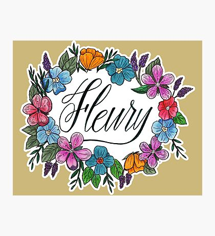 Fleury Wreath (Vegas Gold) Photographic Print