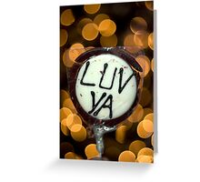 With Luv Greeting Card