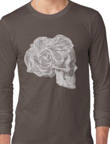skull per saeta - white ink Long Sleeve T-Shirt
