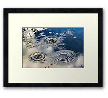 Water Circles Framed Print