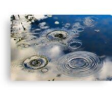 Water Circles Canvas Print