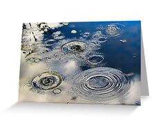 Water Circles Greeting Card