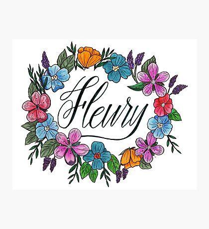 Fleury Wreath (White) Photographic Print