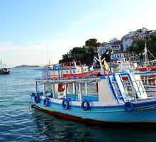 SKAITHOS - Ships at the Old Harbour by Daniela Cifarelli