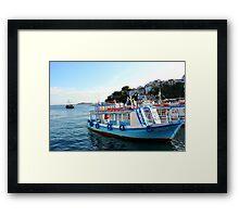 SKAITHOS - Ships at the Old Harbour Framed Print