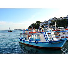 SKAITHOS - Ships at the Old Harbour Photographic Print