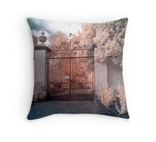 Gates to the Estate Throw Pillow