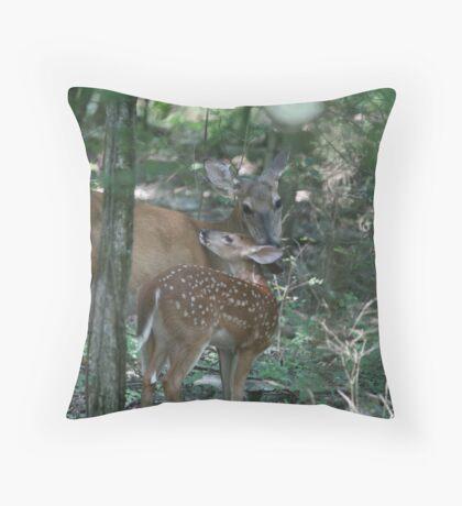 Mother deer Throw Pillow