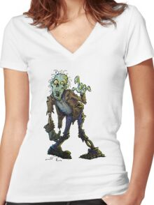 ZomBleee Women's Fitted V-Neck T-Shirt