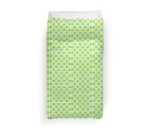 Green Blocks Duvet Cover